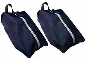 TRAVANDO ® Schuhtasche 2er Set - Wasserfeste Schuhbeutel Reise, Koffer, Gepäck - Schmutzabweisender Schuhsack Reise für Schuhe, Urlaub Shoebag Tasche zur Trennung von Schuhen und Kleidung Reisezubehör - 1