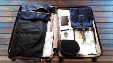 TRAVANDO ® Schuhtasche 2er Set - Wasserfeste Schuhbeutel Reise, Koffer, Gepäck - Schmutzabweisender Schuhsack Reise für Schuhe, Urlaub Shoebag Tasche zur Trennung von Schuhen und Kleidung Reisezubehör - 5