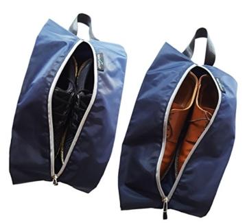 TRAVANDO ® Schuhtasche 2er Set - Wasserfeste Schuhbeutel Reise, Koffer, Gepäck - Schmutzabweisender Schuhsack Reise für Schuhe, Urlaub Shoebag Tasche zur Trennung von Schuhen und Kleidung Reisezubehör - 6