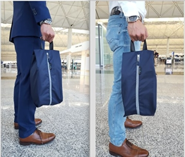 TRAVANDO ® Schuhtasche 2er Set - Wasserfeste Schuhbeutel Reise, Koffer, Gepäck - Schmutzabweisender Schuhsack Reise für Schuhe, Urlaub Shoebag Tasche zur Trennung von Schuhen und Kleidung Reisezubehör - 7