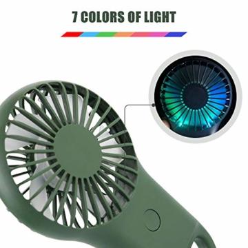 trounitroHandventilator Tragbarer Ventilator Mini Lüfter AufladbaremFaltbar Kompatibel mit Laptop Multi Port Steckdose für Reisen und Zuhause Grün Weiß (Grün) - 2