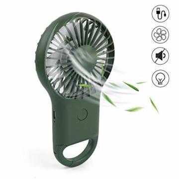 trounitroHandventilator Tragbarer Ventilator Mini Lüfter AufladbaremFaltbar Kompatibel mit Laptop Multi Port Steckdose für Reisen und Zuhause Grün Weiß (Grün) - 1