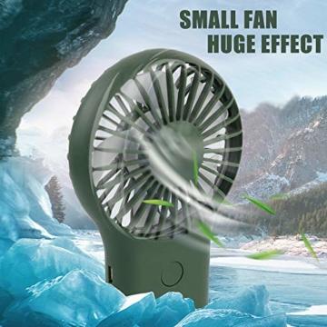 trounitroHandventilator Tragbarer Ventilator Mini Lüfter AufladbaremFaltbar Kompatibel mit Laptop Multi Port Steckdose für Reisen und Zuhause Grün Weiß (Grün) - 7