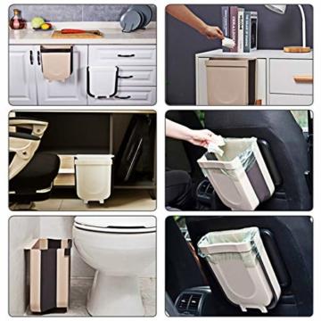 TTMOW Mülleimer Küche Faltbare, Neue Generation 9L Abfalleimer Küche Für Schranktür (Weiß) - 3