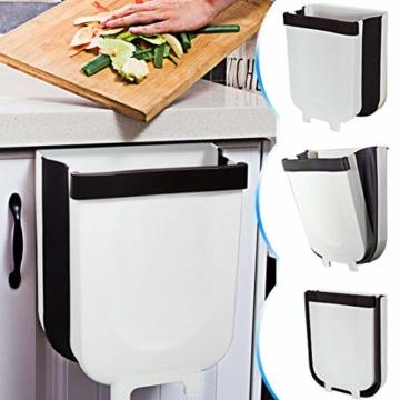 TTMOW Mülleimer Küche Faltbare, Neue Generation 9L Abfalleimer Küche Für Schranktür (Weiß) - 1