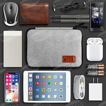 UNEEDE Kable Organizer Tasche Electronic Kabeltasche Zubehör Reisetasche Kable Aufbewahrung Handtasche Organizer Klein Travel mit 5 Kabelindern -Grey - 2