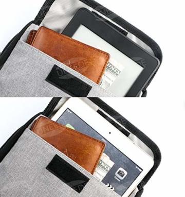 UNEEDE Kable Organizer Tasche Electronic Kabeltasche Zubehör Reisetasche Kable Aufbewahrung Handtasche Organizer Klein Travel mit 5 Kabelindern -Grey - 3