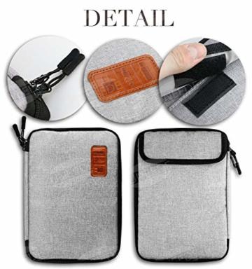 UNEEDE Kable Organizer Tasche Electronic Kabeltasche Zubehör Reisetasche Kable Aufbewahrung Handtasche Organizer Klein Travel mit 5 Kabelindern -Grey - 4