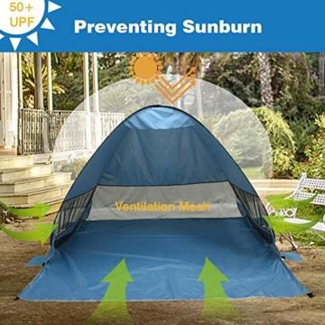 UPF 50+ Pop Up Strandzelt Sonnenschutz Strandschirm Sportschirm Tragbarer Zelt Sonnenschirm Baby Baldachin Mit Für Outdoor-Aktivitäten Strandreisen - 2