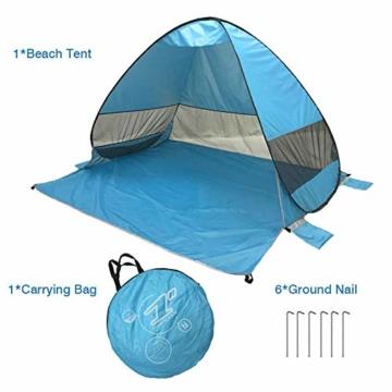 UPF 50+ Pop Up Strandzelt Sonnenschutz Strandschirm Sportschirm Tragbarer Zelt Sonnenschirm Baby Baldachin Mit Für Outdoor-Aktivitäten Strandreisen - 3