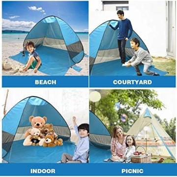 UPF 50+ Pop Up Strandzelt Sonnenschutz Strandschirm Sportschirm Tragbarer Zelt Sonnenschirm Baby Baldachin Mit Für Outdoor-Aktivitäten Strandreisen - 4