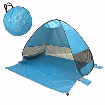 UPF 50+ Pop Up Strandzelt Sonnenschutz Strandschirm Sportschirm Tragbarer Zelt Sonnenschirm Baby Baldachin Mit Für Outdoor-Aktivitäten Strandreisen - 1