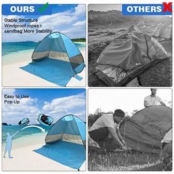 UPF 50+ Pop Up Strandzelt Sonnenschutz Strandschirm Sportschirm Tragbarer Zelt Sonnenschirm Baby Baldachin Mit Für Outdoor-Aktivitäten Strandreisen - 5