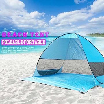 UPF 50+ Pop Up Strandzelt Sonnenschutz Strandschirm Sportschirm Tragbarer Zelt Sonnenschirm Baby Baldachin Mit Für Outdoor-Aktivitäten Strandreisen - 7