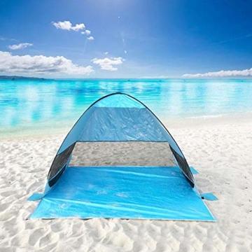 UPF 50+ Pop Up Strandzelt Sonnenschutz Strandschirm Sportschirm Tragbarer Zelt Sonnenschirm Baby Baldachin Mit Für Outdoor-Aktivitäten Strandreisen - 8