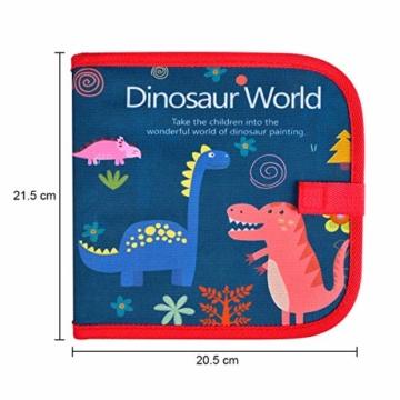 Upgrow Innovative Tafel, Malbuch für Kinder Wiederverwendbares Malbuch Graffiti-Zeichenbrett für Kinder Doodle pad Innovatives Mal- und Zeichenbrett Tafel mit 12 Stiften zum Schreiben und Zeichnen - 2