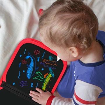 Upgrow Innovative Tafel, Malbuch für Kinder Wiederverwendbares Malbuch Graffiti-Zeichenbrett für Kinder Doodle pad Innovatives Mal- und Zeichenbrett Tafel mit 12 Stiften zum Schreiben und Zeichnen - 3