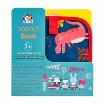 Upgrow Innovative Tafel, Malbuch für Kinder Wiederverwendbares Malbuch Graffiti-Zeichenbrett für Kinder Doodle pad Innovatives Mal- und Zeichenbrett Tafel mit 12 Stiften zum Schreiben und Zeichnen - 4