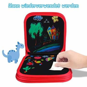 Upgrow Innovative Tafel, Malbuch für Kinder Wiederverwendbares Malbuch Graffiti-Zeichenbrett für Kinder Doodle pad Innovatives Mal- und Zeichenbrett Tafel mit 12 Stiften zum Schreiben und Zeichnen - 5