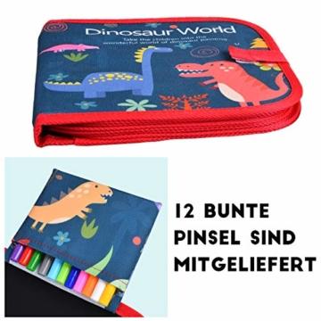 Upgrow Innovative Tafel, Malbuch für Kinder Wiederverwendbares Malbuch Graffiti-Zeichenbrett für Kinder Doodle pad Innovatives Mal- und Zeichenbrett Tafel mit 12 Stiften zum Schreiben und Zeichnen - 6