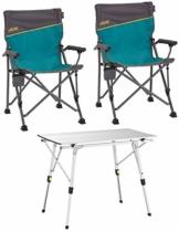Uquip 'Bloody' Campingmöbel Set 3-TLG. Campinggarnitur mit Falttisch + 2X Campingstuhl - 1