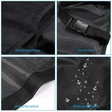 URAQT Kofferraum Organizer Auto, Auto Aufbewahrungstasche, Kofferraumtasche Auto, Wasserdichten Taschen Auto mit Starkes elastisches, Zauberstabstruktur für SUV, Schwarz (1-S) - 3