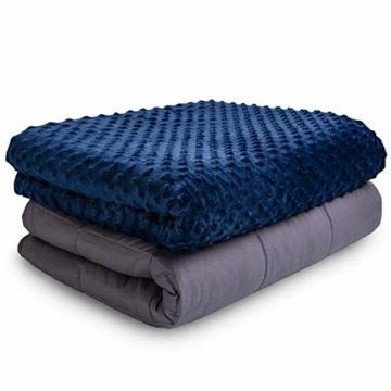 VAN BEEKEN Gewichtsdecke Therapiedecke mit Bezug für Erwachsende und Kinder I Weighted Blanket als Einschlafhilfe und gegen Unruhe I gewichtete schwere Decke zum Besser Schlafen, 150x200 cm 11.3 kg - 1