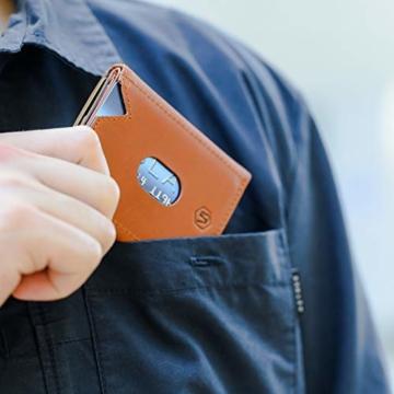 VAN BEEKEN Mini Kartenetui für 12-14 Karten - Leder Geldbeutel Geldbörse für Damen und Herren - Slim Wallet Kreditkartenetui mit RFID Schutz - 4