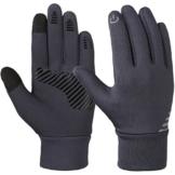 Vbiger Kinder Handschuhe Winterhandschuhe Radhandschuhe Leichte Anti-Rutsch Laufen für Jungen und Mädchen, Grau, Medium (6-8 Jahre) - 1