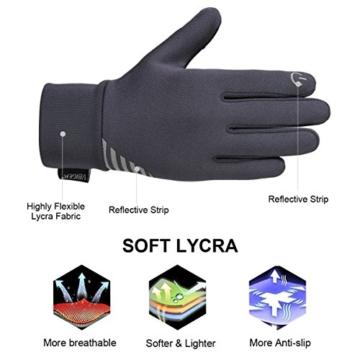 Vbiger Kinder Handschuhe Winterhandschuhe Radhandschuhe Leichte Anti-Rutsch Laufen für Jungen und Mädchen, Grau, Medium (6-8 Jahre) - 6