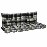 vidaXL Auflagen Set für Hollywoodschaukel 4-TLG. Sitzkissen Sitzpolster Polsterauflage Schaukelauflage Auflage Polster Bankauflage Grau Stoff - 1