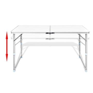 vidaXL Campingtisch Set mit 4 Hockern Klappmöbel Stühle Tisch Falthocker 120x60 - 4