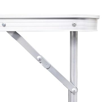 vidaXL Campingtisch Set mit 4 Hockern Klappmöbel Stühle Tisch Falthocker 120x60 - 5