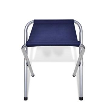 vidaXL Campingtisch Set mit 4 Hockern Klappmöbel Stühle Tisch Falthocker 120x60 - 8