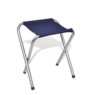 vidaXL Campingtisch Set mit 4 Hockern Klappmöbel Stühle Tisch Falthocker 120x60 - 9
