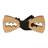 Vikings Fliege Holz Batman Woody, Braun, 9,5 cm x 4 cm - 1