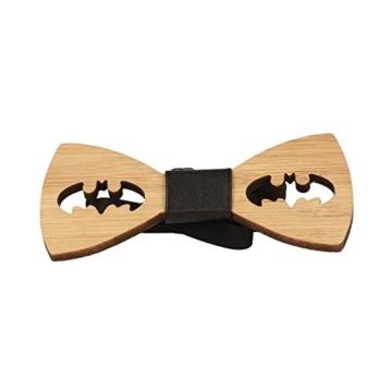 Vikings Fliege Holz Batman Woody, Braun, 9,5 cm x 4 cm - 2