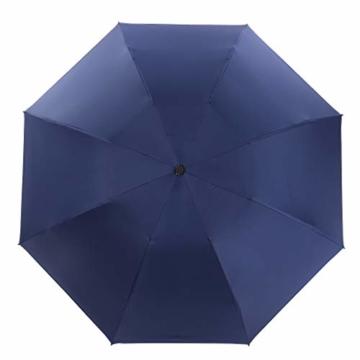 Vollautomatisches Faltbar Sonnenschirm Rain Regenschirm Öffnen Golf Schirme Überdachung Belüftet Winddicht wasserdichte Doppeltem Verwendungszweck UV-Faltschirm (Hellblau) - 2