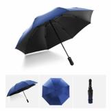 Vollautomatisches Faltbar Sonnenschirm Rain Regenschirm Öffnen Golf Schirme Überdachung Belüftet Winddicht wasserdichte Doppeltem Verwendungszweck UV-Faltschirm (Hellblau) - 1