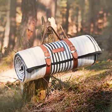 VonShef Extragroße Fleece Picknickdecke mit Kunstledergriff und wasserfester Auskleidung - 7