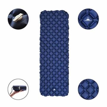 WANDERFALKE Camping Isomatte (XL-Breite) 190 x 66 x 6 cm - Luftmatratze Camping - ultraleichte Isomatte für Outdoor, Camping, Wandern, Reise (Nachtblau) - 3