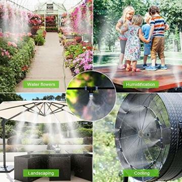 Weeygo Garten Automatische Bewässerung, 10M DIY Bewässerungssystem für Outdoor Kühlung Auf Gewächshausgarten, Sonnenschirme, Trampolin, Balkon - 4