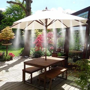 Weeygo Garten Automatische Bewässerung, 10M DIY Bewässerungssystem für Outdoor Kühlung Auf Gewächshausgarten, Sonnenschirme, Trampolin, Balkon - 6