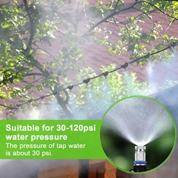 Weeygo Garten Automatische Bewässerung, 10M DIY Bewässerungssystem für Outdoor Kühlung Auf Gewächshausgarten, Sonnenschirme, Trampolin, Balkon - 7