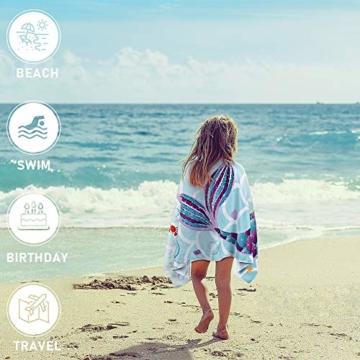 WERNNSAI Meerjungfrau Strandtücher - 76 × 152cm Mikrofaser Strandlaken Badetuch Schwimmen Schnelltrocknend Decke Sand Proof Wasseraufnahme Strandhandtuch Schwimmbad Meerjungfrau Partyzubehör - 2