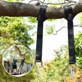 Wilbest 1 Paar Swing Hanging Gurt Kit, schaukel Befestigung Hängematte Hängesessel Wasserdicht, passende Befestigungsbänder Max 450kg mit 2 Heavy Hook Karabiner für Garten Camping Reise Strand(1.5m) - 1