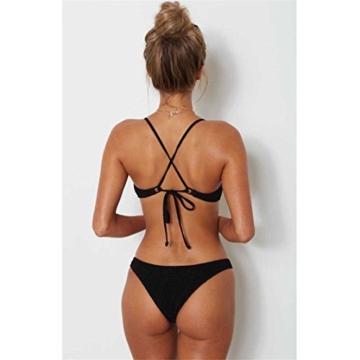 Women Two-Piece Bikini Swimsuit Schlinge Typ Bikini,Loveso Tankini 2018 Bikini Push-Up Gepolsterter BH Badeanzug, der sexy Frauen-Feste Bügel Bikini-gesetzte Badebekleidung badet (M, Schwarz) - 2