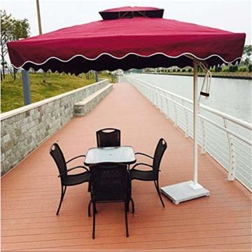 YRRA Porto Parasol,Regenschirm für Sonne Crank Mechanism Marktschirm Gartenschirm Terrassenschirm Doppelsonnenschirm Terrassenschirm,Blau - 2