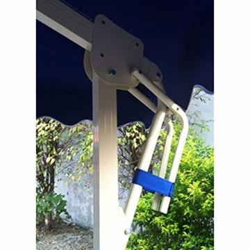 YRRA Porto Parasol,Regenschirm für Sonne Crank Mechanism Marktschirm Gartenschirm Terrassenschirm Doppelsonnenschirm Terrassenschirm,Blau - 6