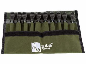 Zite Fishing T-Pegs Zelt-Heringe Angeln & Camping - 10 STK Massive Stahl-Erdnägel für Angelzelte Bivvy & Camping-Zelte - 2